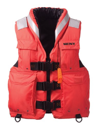 Kent Sar- Search and Rescue Commercial Life Vest - Persons over 90-Pounds (Orange, Large, 40-44-Inch Chest)