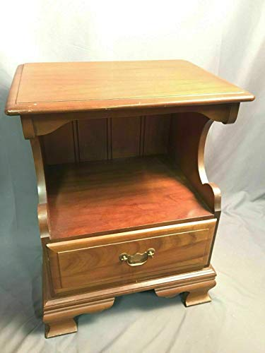 (PHOENIX FINDS TREASURES American Drew Solid Wood Nightstand Vintage End Table Made in USA )