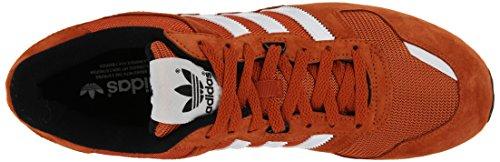Adidas Originaler Menns Zx 700 Livsstil Løper Sneaker Rev Rød / Hvit / Perlegrå