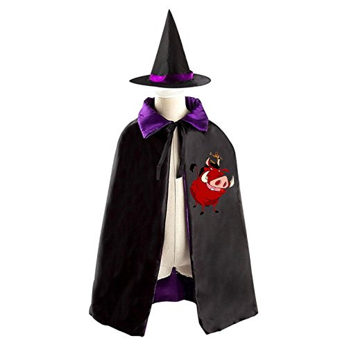 The Lion King Halloween Wizard Witch Kids Cape With Hat Party Cloak