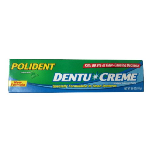 Polident Dentu Creme Denture Cleansing Toothpaste - 3.9 Oz (pack of 1)