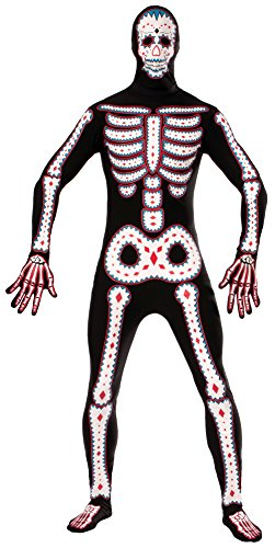 Forum Novelties Men's Day Of The Dead Disappearing Man Costume, Multi, One -