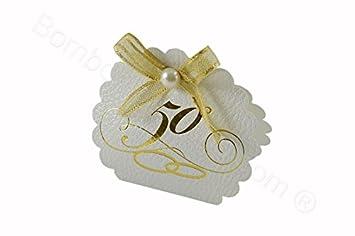 Geschenkverpackung Jubiläum 50 Jahre Weiß 10 Stück Im Set