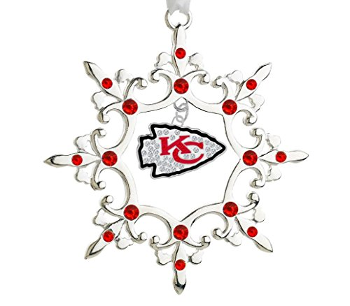 - Final Touch Gifts Kansas City Chiefs Rhinestone Christmas Ornament