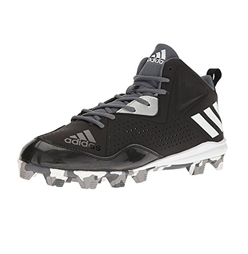 Mens Molded Baseball Cleats (adidas Men's Wheelhouse 4 Mid Baseball Cleats, Black/White/Onix, (9 M US))