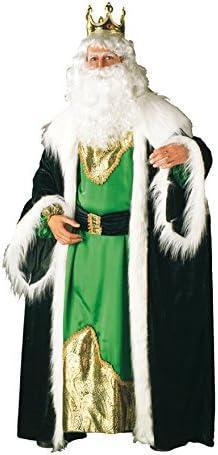 Disfraz de Rey Mago Melchor Lujo Verde Navidad: Amazon.es ...