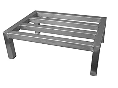"Prairie View Ind. Food Service SDR1824 Straight Leg Dunnage Rack, 18"" Width x 12"" Height x 24"" Length"