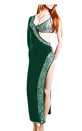 treasure.of.egypt Oriental Belly Dance Handmade Abaya Sexy Beaded Saidi Costume Galabya Lingerie-Turquiose]()