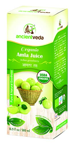 Amla Juice Organic / Indian Gooseberry 500 ml - USDA Certified Organic