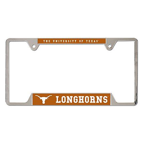 Texas License Plate Frames - WinCraft NCAA University of Texas Metal License Plate Frame