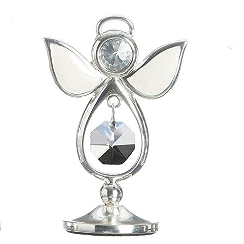 April Bright And Clear Colored Jewel Bead 3 Inch Birthstone Angel Figurine