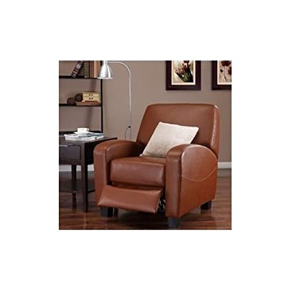 Amazon.com: Camel Leather Recliner Chair Luxury Sofa Seat ...
