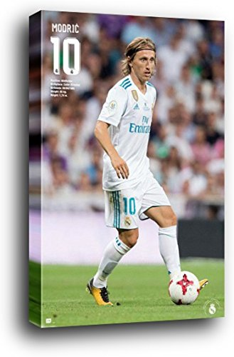 1art1 Football Wood Mounted Poster - Real Madrid, Luka Modri