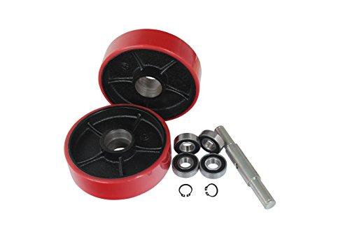 Eoslift SW-1 | Replacement Pallet Jack Steering Wheel Set | 7'' Dia x 2'' Hub Length x 20mm ID by Eoslift