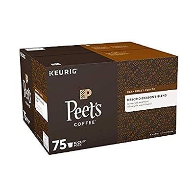 Peet's Coffee Major Dickason's Blend, Dark Roast, 16 Count Single Serve K-Cup Coffee Pods for Keurig Coffee Maker from Peet's Coffee