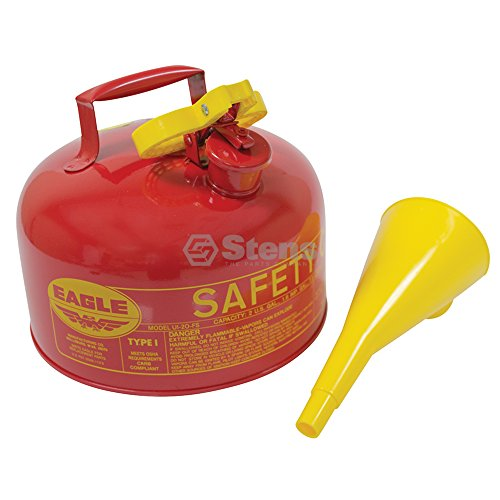 Metal Safety Fuel Can / Eagle 2 Gallon With Funnel