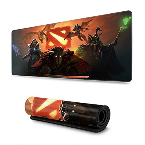 PC Mouse Pad, Extended Gaming Mouse Pad, Gaming Gamer Dota 2 Pudge Windrunner Antimage Sniper, Office & Home (31.5×11.8 Inch)