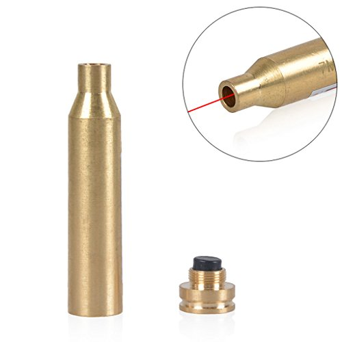 7 Mm Mag Ammo (Drmus 7mm REM MAG Cartridge Bore Sighter Sturdy Copper/Brass Red Laser Sight for Riflescope)