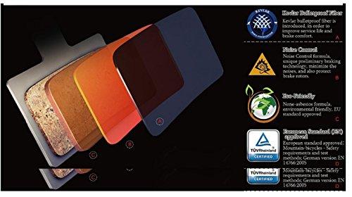 Replacement Resin Organic Semi-metal Brake Pads fit for Sram Avid Elixir TRAIL, X0 Trail, Elixir 7 Trail, Elixir 9 Trail, Guide, Guide R , Guide RS, Guide RSC, XOTR-M, XOTR-O, XOTR-O-AL, 2 Pairs by Juscycling (Image #5)