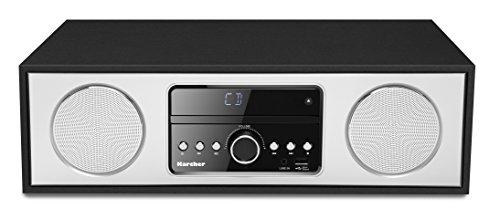Karcher DAB 4500CD compact systeem met cd-speler (Bluetooth en FM/DAB+ radio – elegante houten behuizing met 2x 15 Watt…