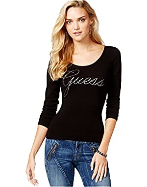 Guess Women's Embellished Cross-Back Sweater