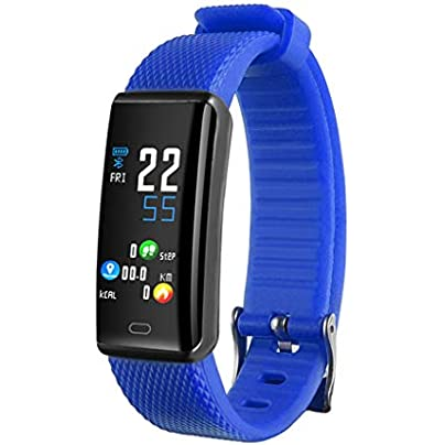 HFXLH Smart Bracelet Pedometer Fitness Tracker Heart Rate Monitor Smart Wristband Waterproof Smart Women Bracelet USB Charger Estimated Price £42.18 -