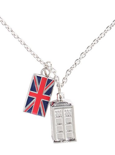 Doctor Who Tardis Union Jack Chain Necklace