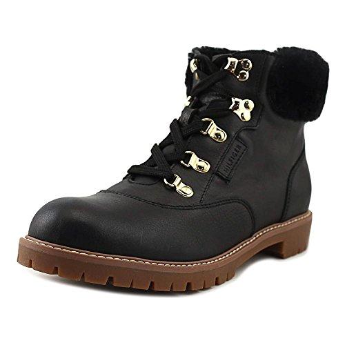 Tommy Hilfiger Tucker, Kaltes Wetter Stiefel Frauen, Runder Zeh Black Leather