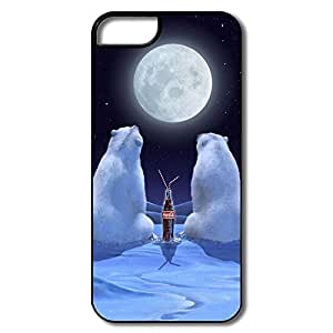 Polar Bears Plastic Funny Case Cover For IPhone 5/5s