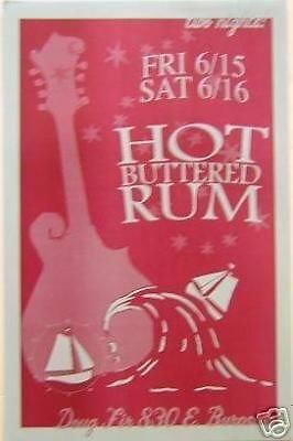 Hot Buttered Rum String Band Portland Concert Poster