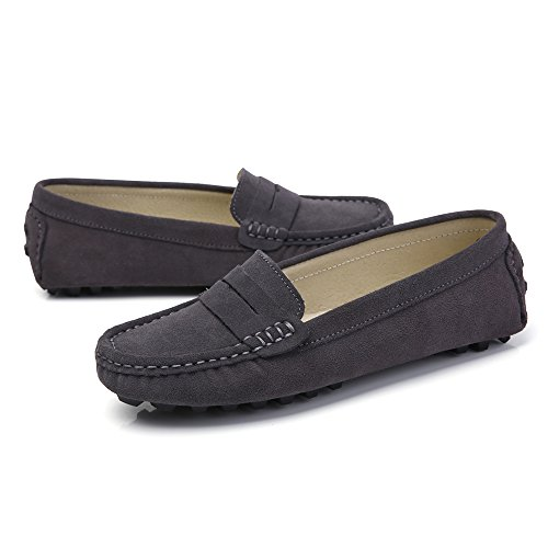 aa4ea42d259 30%OFF SUNROLAN Rebacca Women s Suede Leather Driving Moccasins Slip-On Penny  Loafers Boat