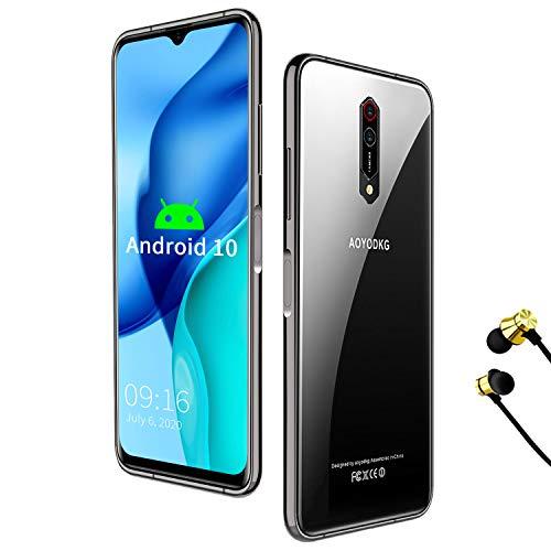 Android 10.0 Smartphone Unlocked, 10 Core 2.3Ghz CPU 6GB/64GB/256GB Dual 5G WiFi & 4G LTE SIM 4500mAh 6.5'' 2k Display, 16 + 8MP, Google GMS Certified Unlocked Cell Phone (Black)