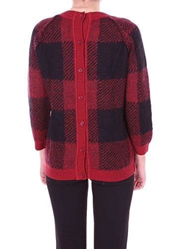Rosso Wwmag1677bs01 Donna Nero Woolrich Maglia E qtwYq4S