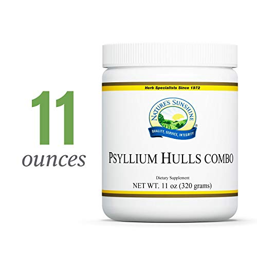 Nature's Sunshine Psyllium Hulls Combination, 11 oz. | Organic Intestinal System Support is High in Soluble Fiber Which Facilitates The Process of Waste ()