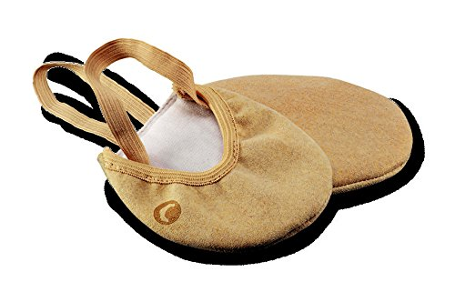 BALLET TOE HALF SHOES MICROFIBER BEIGE 37