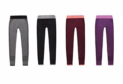 Cheap MITSMEH Women's Yoga Leggings (XL, Wine Red)