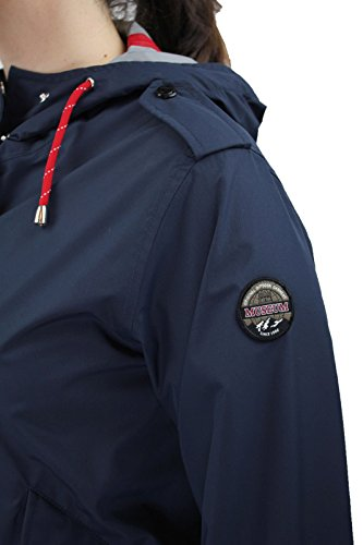 Giubbotto Museum donna trench giacca parka blu scuro kway impermeabile FKS