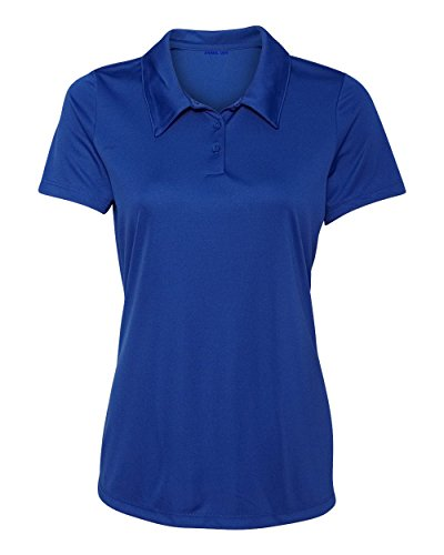 Animal Den Women's Dry-Fit Golf Polo Shirts 3-Button Golf Polo's in 20 Colors XS-3XL Shirt (Blue Ladies Polo Shirt)