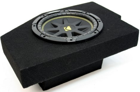Compatible with Dodge Ram 02-12 Quad Cab Truck Single 10 Kicker C10 Sub Box Enclosure 300 Watts Peak
