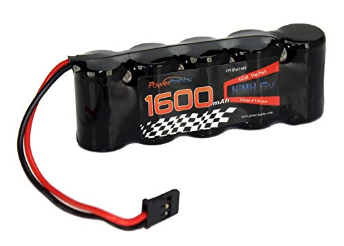 Powerhobby 6V 1600mAh NiMH Flat Receiver Battery Pack FITS : Traxxas Revo Slayer Nitro Slash Jato Mugen Durango