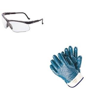 KITMPG9761RUVXS3200X - Value Kit - Memphis Predator Premium Nitrile-Coated Gloves (MPG9761R) and Uvex Genesis Safety Eyewear (UVXS3200X)