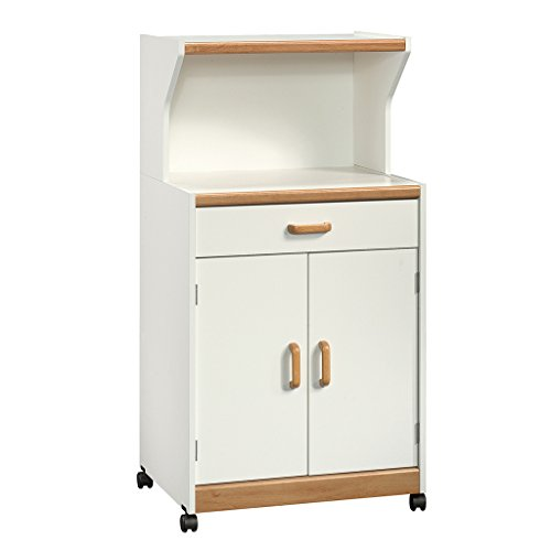 Sauder Universal Oven Cart, White - Cottage Collection Drawer Chest