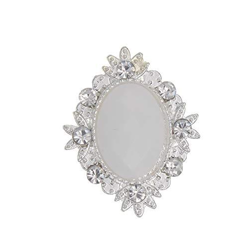 (Maslin 25x32mm Rhinestone Buttons Decorative Silver Sequins Rhinestone Crafts Metal DIY Flatback Embellishment Crystal Botones 50pieces - (Color: 11 Porcelain Button, Size: Gold))