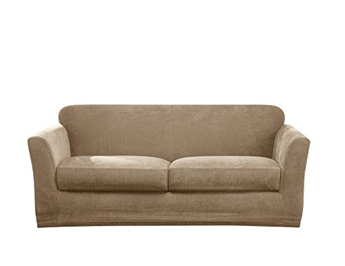 Sure Fit Ultimate Stretch Chenille Loveseat Slipcover - Tan ()