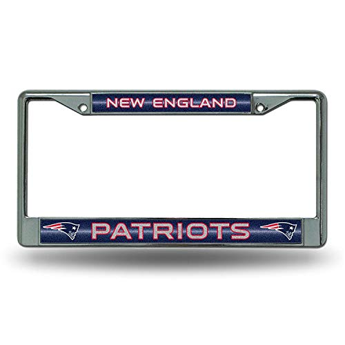 Nfl Stainless License Plate - New England Patriots NFL Los Angeles Rams Bling Chrome License Plate Frame