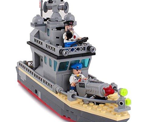 Militar Ejército Barco Embarcación Combate con Tiro Rocket Enemy Fuerte NUEVO 505 piezas (819): Amazon.es: Juguetes y juegos