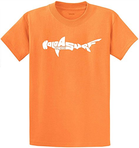 Koloa Surf Co. Hammerhead Shark T-Shirts in Size 4X-Large Tall -4XLT Orange Sherbet (Head Tee Logo)