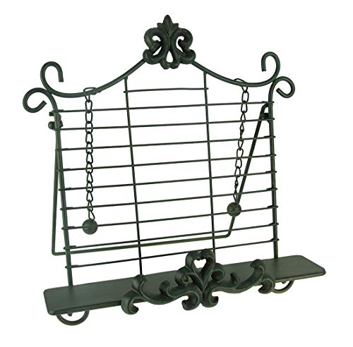 - Wrought Iron Fleur De Lis Cookbook Holder Easel Stand
