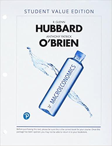 Macroeconomics by Hubbard/O'Brien