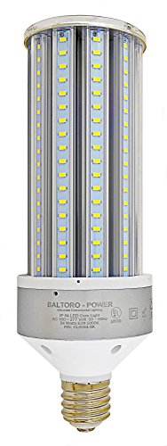 Baltoro CLS6054 54W LED Corn Bulb, 360° Flood Light Replaces 250-400 Watt MH, HID, HPS & CFL Large Mogul Screw Base (E39) Area Light, 5000K UL & DLC, 7300 Lumen ()